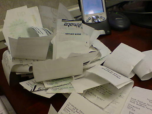Sorting my receipts