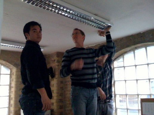 How many Huddlers does it take to change a lightbulb?