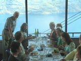 Dining high - above Lake Wakatipu, Queenstown with Hadleys and Watlings.