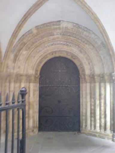Temple Church doorway