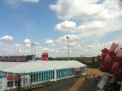 Olympic Park Day 1 bathed in sunshine #London2012