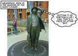 Betjeman checks out his neighbours