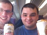 Beers on the train to Bangor