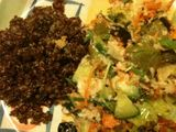 Salad and red quinoa