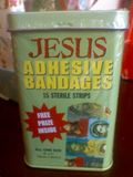 Jesus adhesive bandages. Just when you thought you'd seen everything...