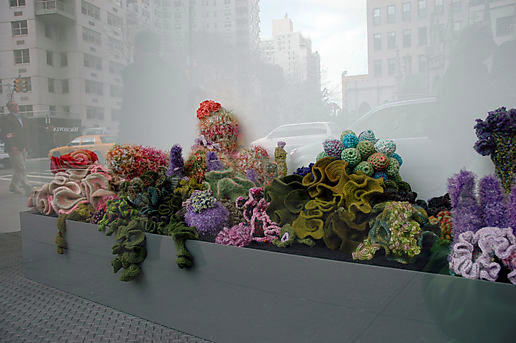 Crocheted coral reef, part 1.