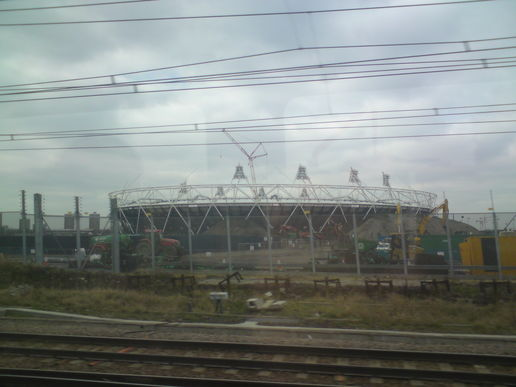 A fleeting glimpse of the olympic stadium
