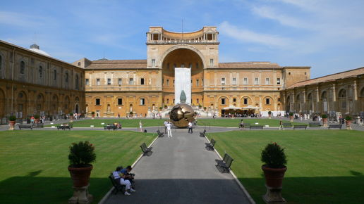 A walk in the Vatican grounds