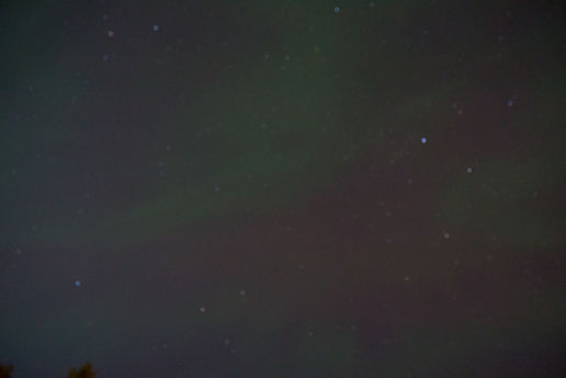 First aurora of the year