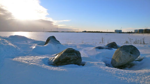 Sea ice at Holmsund, Sweden
