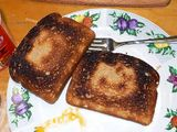 Demonic 'Hello Kitty' toast