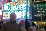 Old meets new: My parents in Times Square