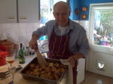 Cooking lunch on mothering sunday