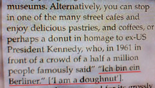 "JFK: ""I am a doughnut!"""