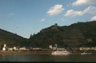 On the train through the Upper Middle Rhine Valley