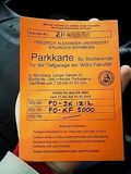 Uni parking permit
