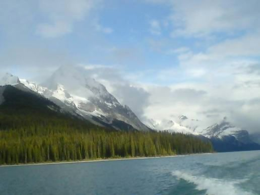 Lake maligne And snow!