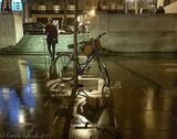 reflections, shadows and a bike