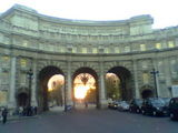 Sunset through Admiralty Arch