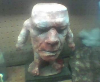 Boris sculpture on work bench