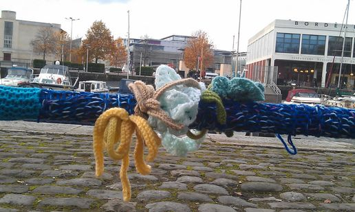 fishy Yarnboming in bristol
