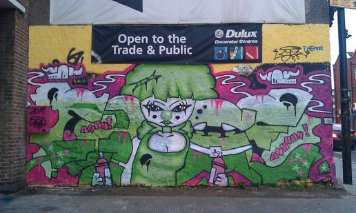 #streetart graffiti tagging in bristol