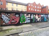 Street art graffiti tagging Bristol