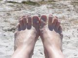 Nothing better than sand in your toes
