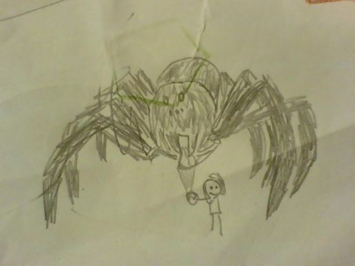 I want to give the spider some ice cream Daddy