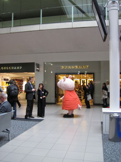 Peppa at Heathrow