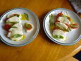 Mozzarella, tomato and basil