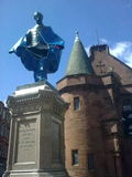 Sunny Govan, town centre heritage iniative repair works underway at Sir William Pearce statue