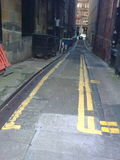 Austerity please Roads Dept. - surely less yellow paint would achieve the same effect.