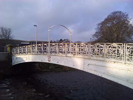 White Bridge 1870 over Carron Water. Arbuthnott Street.