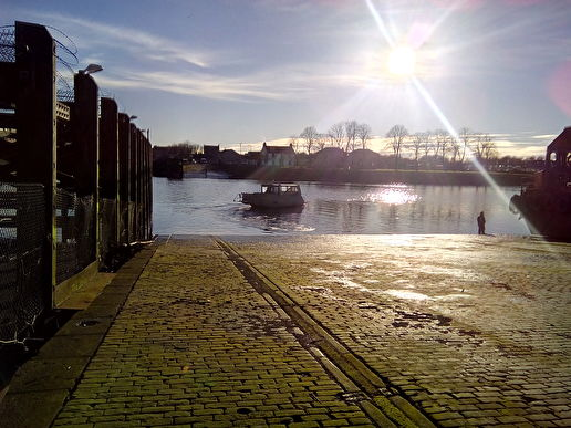 Yoker Ferry slipway