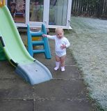 Why can't I go on the slide Daddy?