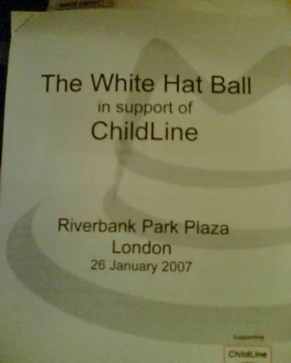 Was in London for the White Hat Ball