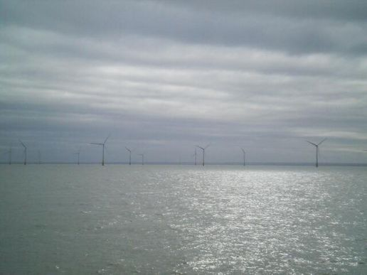 view from deck - kent flats windfarm