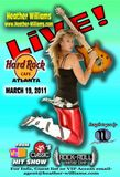 March 19th! Be there! My 1st stop on my Tour! Hard Rock Cafe  Atlanta!