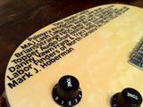 Mark Hoberman has added his name to my guitar!