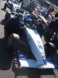 Jonathan Legris preparing for qualifying at Brands Hatch