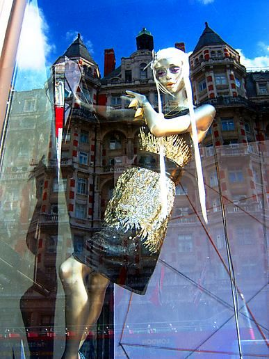 Harvey Nichols Window Reflections...