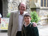 Edward with Harry Potter actor, David Bradley