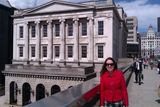 Sarah outside Fishmongers' Hall, London