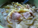 Cabbage and bacon soup