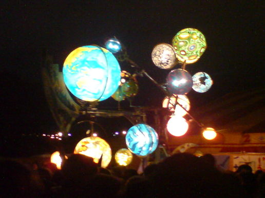 Solar system in the Park