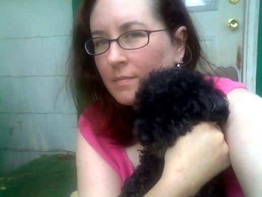 Self Portrait with poodle.  :)