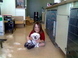 Aubrey with Princess The Pekingese