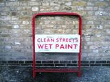 clean streets, wet paint