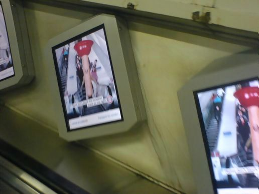Video Ads at tottenham court road station